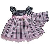 Youngland Baby Girls' A-Line Dress Silber Grau Rosa 12-18 Months -  - 3-6 Months
