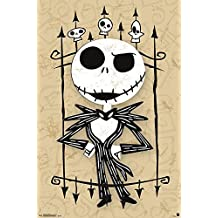 Nightmare Before Christmas Poster - Jack (55,5cm x 86,5cm) + plus white fabulous protective gift tube
