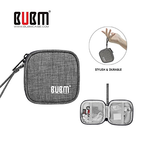 Mini Soft Earbuds (BUBM Mini Earphones Case Carrying Case for Earphone / Earpods /Earbuds / for Lightning Cable Charger Change Purse Protective Travel Pouch Cute Bag Box Portable for Accessories Carrying Bags(Grey))
