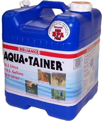 Aqua-Tainer 7-Gallon Rigid Water Container made our list of camping safety tips for families who RV and tent camp