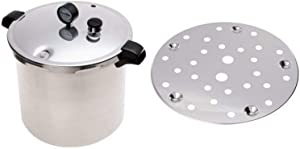 Presto 01781 23-Quart Pressure Canner and Cooker and Presto Cooking/Canning Rack for Pressure Canner Bundle