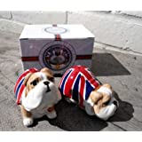 Salt and Pepper Pots - Union Jack Bulldog Salt and Pepper Set - Boxed Set