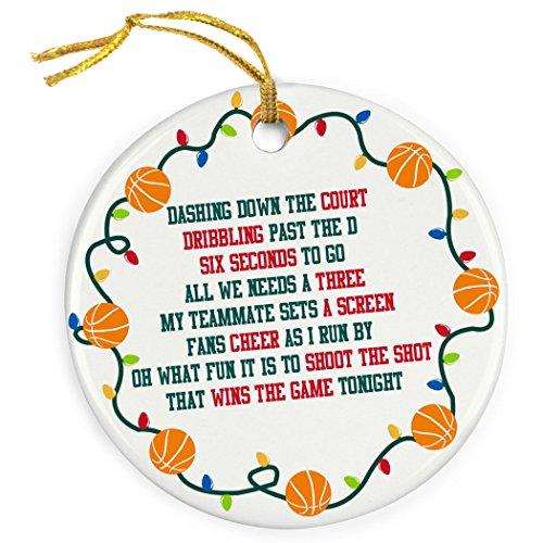 Basketball Christmas Holiday Ornament - 4