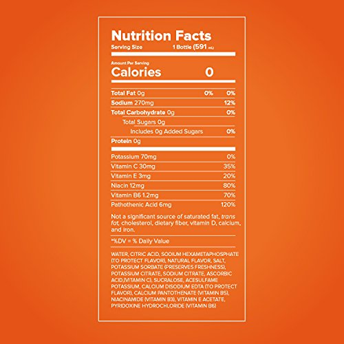 Propel Water Mandarin Orange Flavored Water With Electrolytes, Vitamins and No Sugar 16.9 Ounces (Pack of 6) by Propel (Image #6)