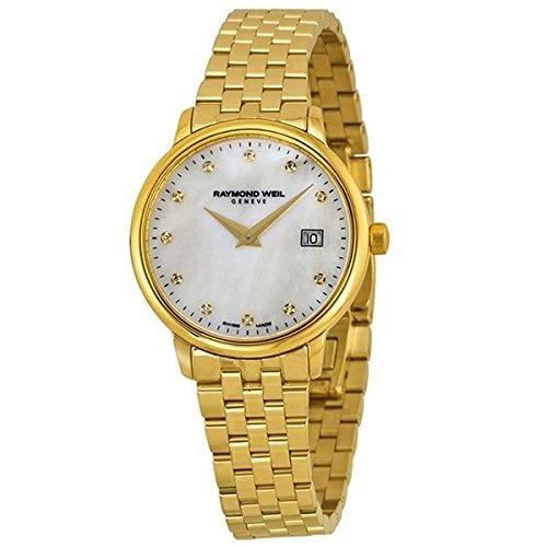 Raymond Weil Reloj Analógico para Mujer de Cuarzo con Correa en Oro Amarillo 5988-P-97081: Amazon.es: Relojes