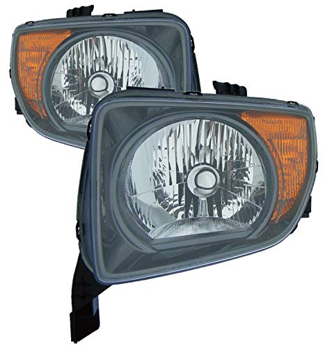For 2007 2008 Honda Element Ex/Lx Model Only Headlight Headlamp Assembly Driver Left and Passenger Right Side Pair Set Replacement HO2518114 HO2519114