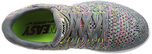Nike Womens Wmns Lunarepic Low Flyknit 2, Cool Grijs / Wit-volt-blue Glow, 5.5 M Us