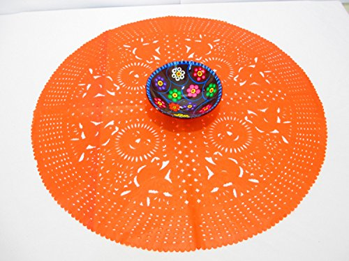 Orange Wedding Decoration, orange Centerpiece Doily, Paper