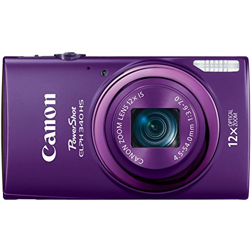 Canon PowerShot ELPH 340 HS 16MP Digital Camera - Wi-Fi Enabled (Purple)