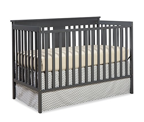 Stork Craft Mission Ridge Fixed Side Convertible Crib, Gray
