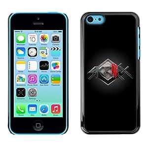 """For Apple iPhone 5C , S-type Banda de Música Electrónica"""" - Arte & diseño plástico duro Fundas Cover Cubre Hard Case Cover"""