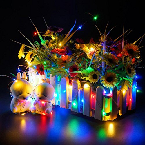 certainPL LED String Fairy Lights, 6.5ft with 20 LEDs, Battery Powered Waterproof Decorative Lights for Wedding Party Home Garden Bedroom Outdoor Indoor Decor (Multicolor) by certainPL (Image #5)