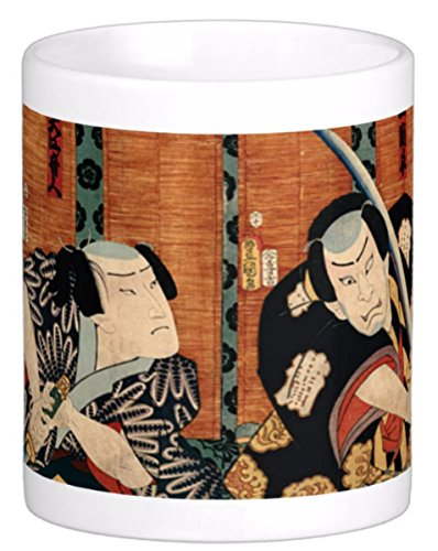 Traditional Japanese Samurai Painting Reproduced on 11 Oz. Ceramic Coffee Mug (Samurai) by The Image Shark