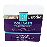 DANIELLE LAROCHE COLLAGEN ADVANCED OVERNIGHT CREAM. Helps improve the look to skin's elasticity and appearance. 1.69 FL OZ