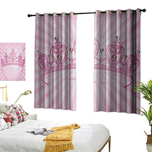 (Luckyee Thermal Insulating Blackout Curtain,Queen,72