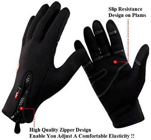 Outdoor Sports Gloves Tactical Mittens,men Women Winter Keep Warm Bicycle Cycling Hiking Gloves Full Finger,military Motorcycle Skiing Gloves (M)