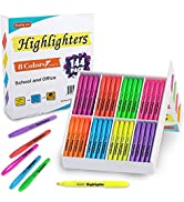 144 Pack Highlighters, Shuttle Art Highlighters Assorted Colors Set, 8 Bright Colors Chisel Tip H...