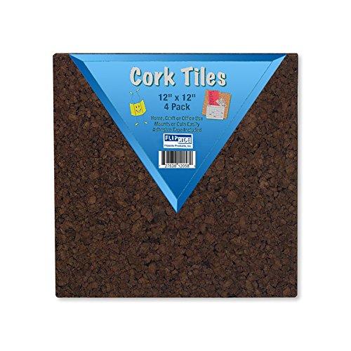 "Flipside Products Frameless Dark Brown Cork Squares, 12"" ..."