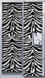 Darice 4 Panels Locker Lookz Wallpaper, Black and White Zebra