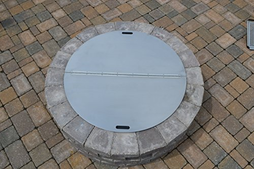 Round Snuffer Fire Pit Cover by Firebuggz