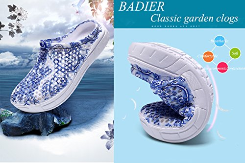 Slip Women Summer Soft Footwear Sandals Shower Anti Shoes Mesh Water Slippers BADIER BADIER Garden Women Breathable Walking Light Mens Clog Black Beach Shoes tdqxPgU