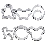 mickey mouse cookie cutter metal - 10 PCS Cookie Cutters,2 x Eggs,Cat,Mickey Mouse,2 x Round Shape,Butterfly,2 x Gingerbread Man,No-deformation and Easy to Wash,DIY Large and Small Size Metal Biscuits Shape Cutter Set