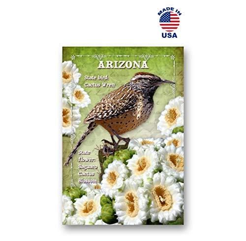 ARIZONA BIRD AND FLOWER postcard set of 20 identical postcards. AZ state symbols post cards. Made in USA.
