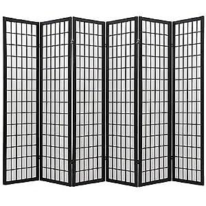 Coaster Oriental Style 4 Panel Room Screen Divider Black Framed Black 6 Panel