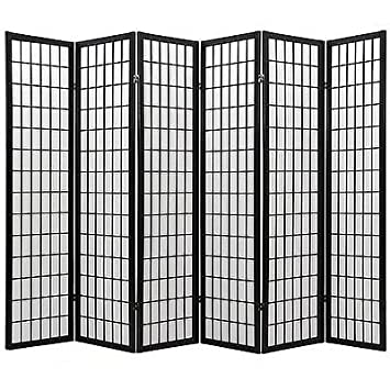 Coaster Oriental Style 4 Panel Room Screen Divider Black Framed Black 6