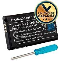 Kit Batería de Btería de Litio 3.7 Volts 2500 mAh para Consola Nintendo 3DS XL + Desarmador