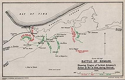 Amazon first world war battle of romani egypt british first world war battle of romani egypt british turkish positions 1935 gumiabroncs Choice Image