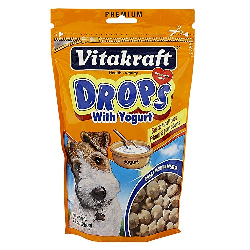 VitaKraft Dog Drops with Yogurt Treat, Dog Snacks, 8.8 Ounce (Dog Yogurt Drops)