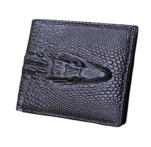 Geldbörse, Rcool Neue Männer Taschen ID Credit Card Holder Wallet Bifold Geldbörse Clutch Schwarz