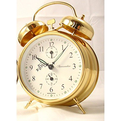 Sternreiter Double Bell Mechanical Wind Alarm Clock - Gold ()