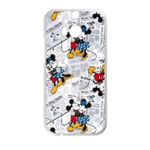 Mickey and Minnie HTC One M8 Cell Phone Case White MSY161653AEW