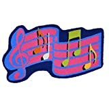 Ustide Music Area Rug Handmade Rug Washable Non-Slip Floor Mat Art Rug for Kids Bathroom Mat Small