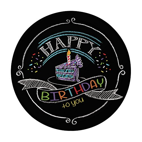 Creative Converting 8 Count Sturdy Style Chalk Birthday Paper Lunch Plates, 7