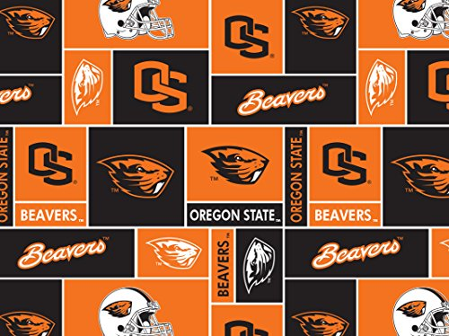 NCAA Oregon State University Beavers Licensed Block Fleece Fabric 60'' Wide Sold By The Yard