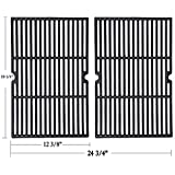 """Sente Grill Grid Grate Replacement for Charmglow, BBQ Grillware, Jenn-Air, Grill Zone, Weber, Kenmore, Nexgrill and Others, 2-Pack Porcelain Coated Cast Iron Cooking Grid (12 3/8"""" x 19 1/4"""" for Each)"""