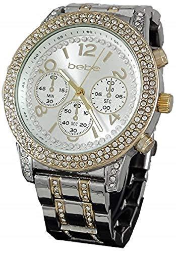 bebe Women's Silver 3 in 1 Interchangeable Watch Set