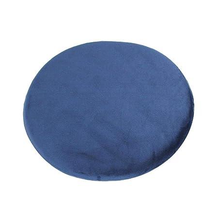 PROKTH Cojín de Almohada de meditación Zafu Yoga Relleno de algodón de Memoria - Redondo - 40x40x5 cm - 1 Piezas