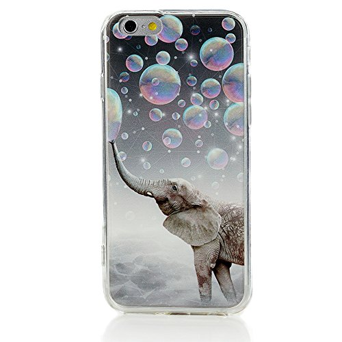 Price comparison product image Iphone 6 Plus 6s Plus Case Heavy Duty Durable TPU Bumper Back Cover Elephant