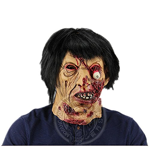 BestBang Creepy Scary Halloween Cosplay Costume Mask For Adults Party Decoration Props -