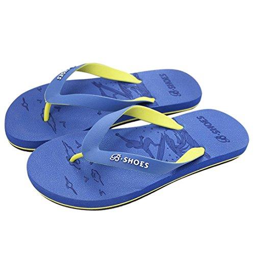 Jaminy Unisex Men's Flip-Flops Women's Slippers Beach Sandals Casual Shoes Indoor Outdoor Flat Slippers Blue Z9Y9Fdzx6f