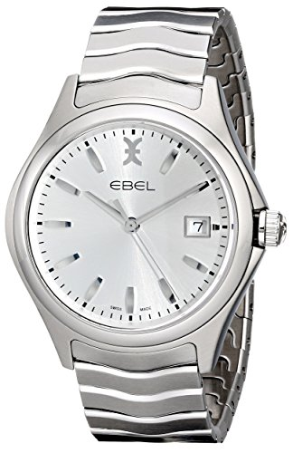 EBEL-Mens-1216200-Wave-Analog-Display-Swiss-Quartz-Silver-Watch