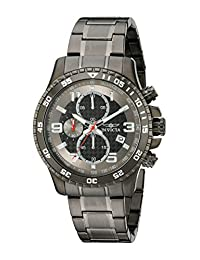 Invicta Men's 14879 Specialty Chronograph Silver Grey Dial Gunmetal Ion-Plated Stainless Steel Watch