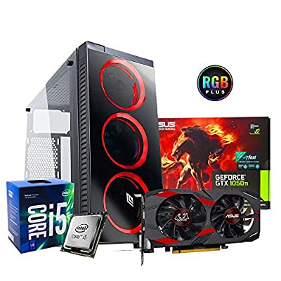 Ordenador de sobremesa Gaming Intel i5 7400 3.5 gHz quadcore,Asus Gtx 1050ti 4 gb Ddr5 ,Ram Ddr4 8 gb ,SSD 120 gb + HDD 1 TB ,Wifi ,Windows 10 Professional,Pc de sobremesa gaming 16