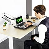 """Loctek Standing Mount Sit Stand Arm Workstation Gas Spring Laptop Mount Stand for 10""""-17"""" Notebook, Supports laptop weighting 2.2-15.4 lbs"""