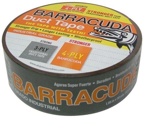 Barracuda TP BARA ORG Duct Tape with Teeth 50 yd L x 1.88 in W Black//Orange