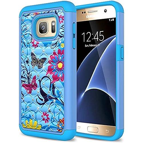Eflistone Slim TPU Flower Pattern Hybrid Case for Samsung Galaxy S7 Sales